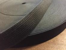 Gumiszalag, szín: fekete, szélesség: 20mm, 1 tekercs: 40m, Egységár: 28,0 Ft/méter*
