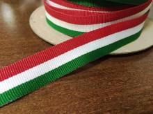 Nemzeti szalag, szín: magyar nemzet, szélesség: 17mm, 1 tekercs: 100m, Egységár: 26,0 Ft/méter*