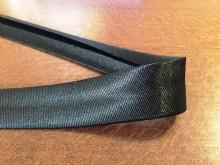 Szatén ferdepánt, szín: fekete, szélesség: 20mm, 1 tekercs: 25m, Egységár: 51,0 Ft/méter*